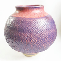 Purple Ceramic Vase