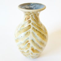 Stoneware Ceramic Vase in Muted Colours