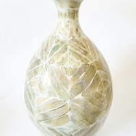 Tall Ceramic Vase in Natural Colours Glazes