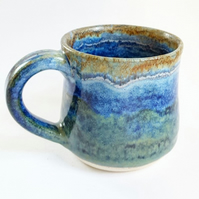 Small Blue Ceramic Handmade Mug