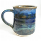 Handmade Wheel Thrown Ceramic Mug in Blue Glazes