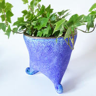 Matt Blue Plant Holder