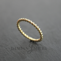 Bead Stacker Ring in 9ct gold