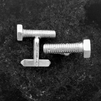Rusty Bolt Cufflinks