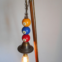 Snooker table with lamp