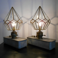 A Pair of Prism Table Lamps