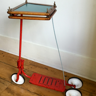 Square Scooter Side Table