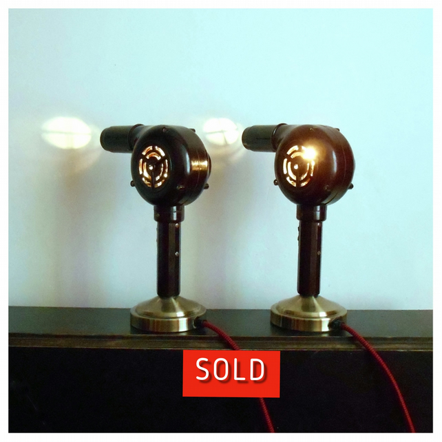Pair of Vintage Hairdryer Lamps