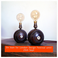 A Pair of Bowling Balls Lamps