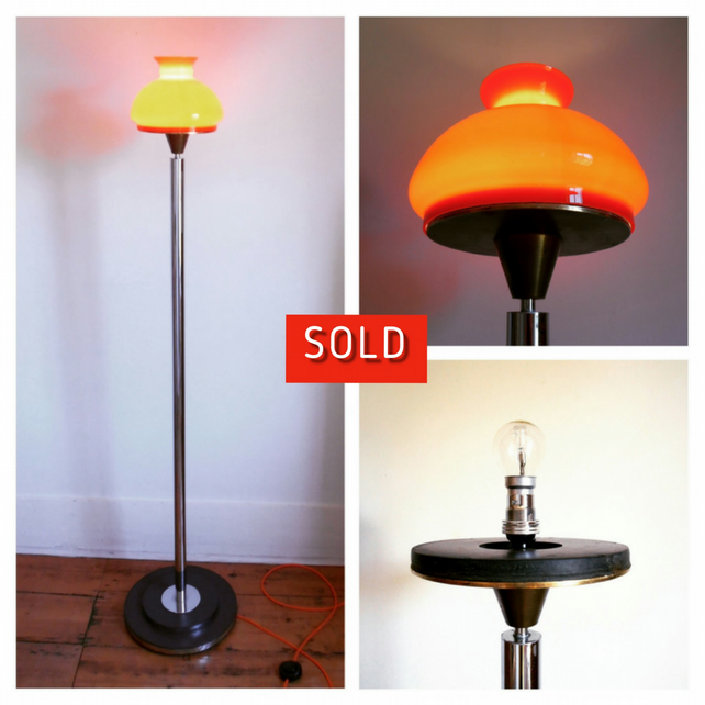 Vivid Orange Floor Lamp