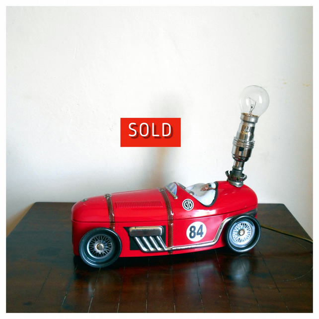 Red Car Table Lamp