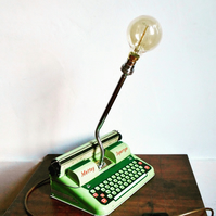 Retro Typewriter Tin Table Lamp