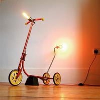 Vintage Scooter Floor Lamp