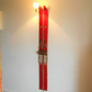 Vintage Red Ski Wall Lamps
