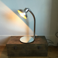 Hoover Table Lamp with a Round Mirror Base