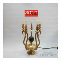 Brass Chandelier Table Lamp