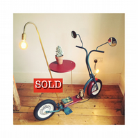 Vintage Scooter Side Table & Lamp