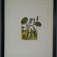 'Whispering Meadow part 1'  lino cut. Ltd edition of 30.