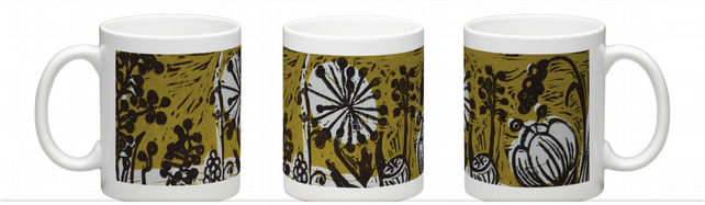 "coffee mug. Floral View"" Retro,Ltd edition, coffee mug. coffee cup. mug"