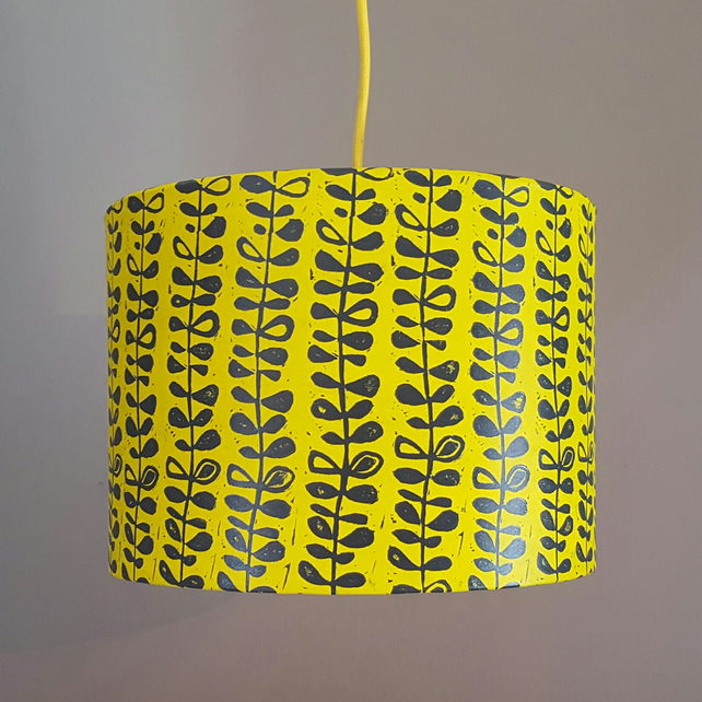 Yellow drum lampshade pendant lampshade
