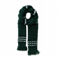 "DARK GREEN CROCHET SCARF FOR MEN (81"" x 9"")"
