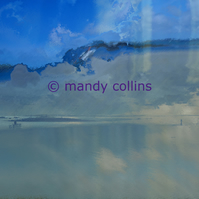 'Figures On The Beach' Giclee print Anglesey Seascape