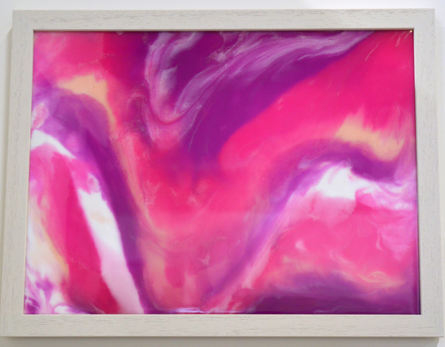Quot Pink And White Abstract 1 Quot In Acryli Folksy