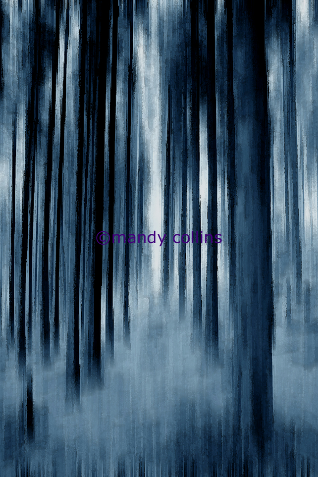 """Indigo Trees"" - A4 Archival Matte Giclee print"
