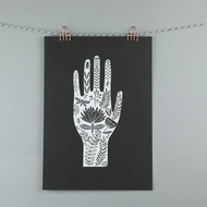 Folk art hand illustration