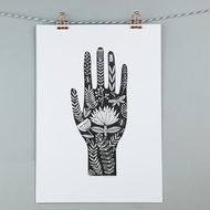 A4 folk hand illustration