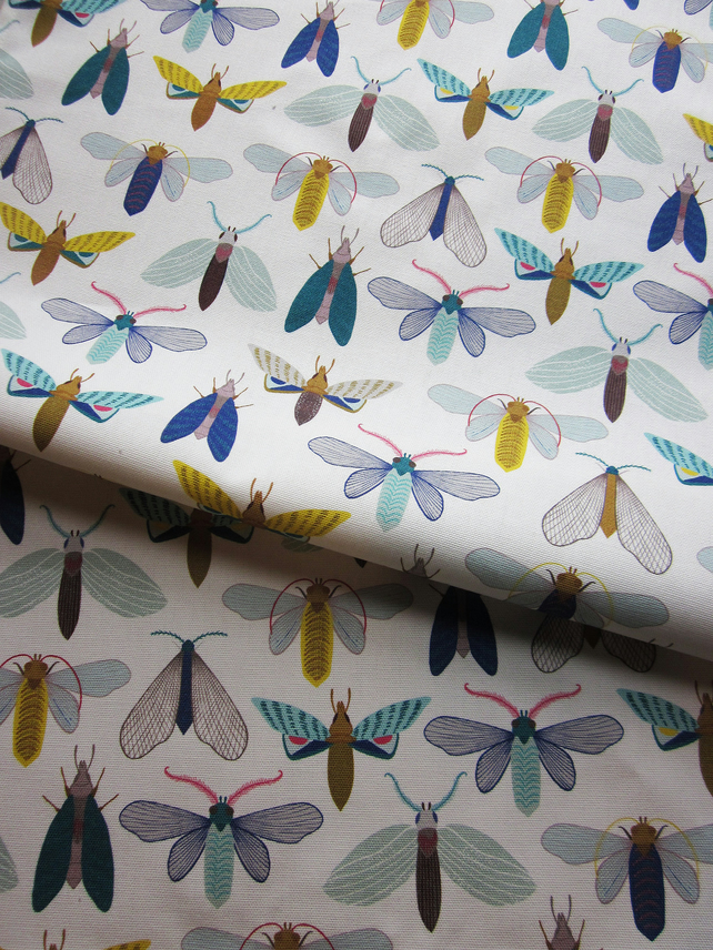Moth tea towel, bright & colourful butterfly pattern