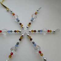 Beaded Snow Flake Decoration