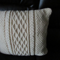 Traditional Colour Arran Multi Cable Cushion Cover