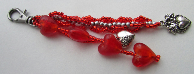 Valentine Heart Bag Charm