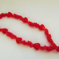 Red Heart Valentine Necklace