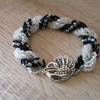 Black and White Sparkle Bracelet