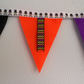 Happy Halloween Ribbon Bunting in Black Orange and Purple
