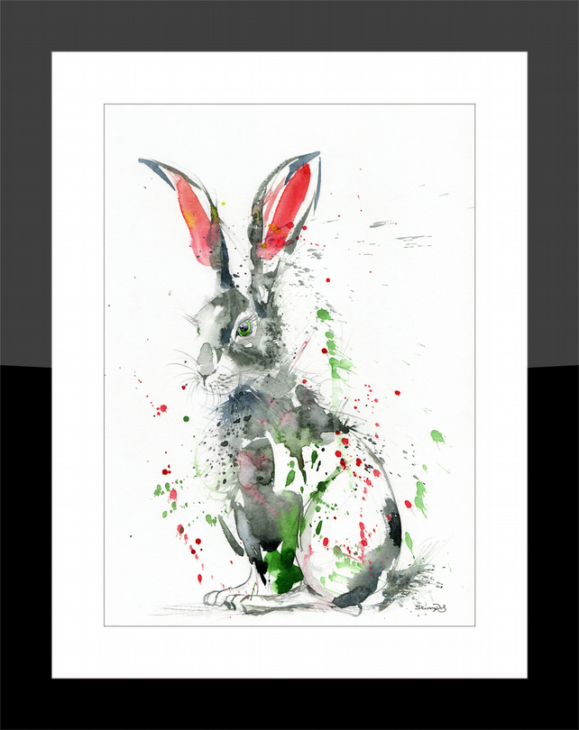 A4 Hare - Print from my Original Watercolour Painting
