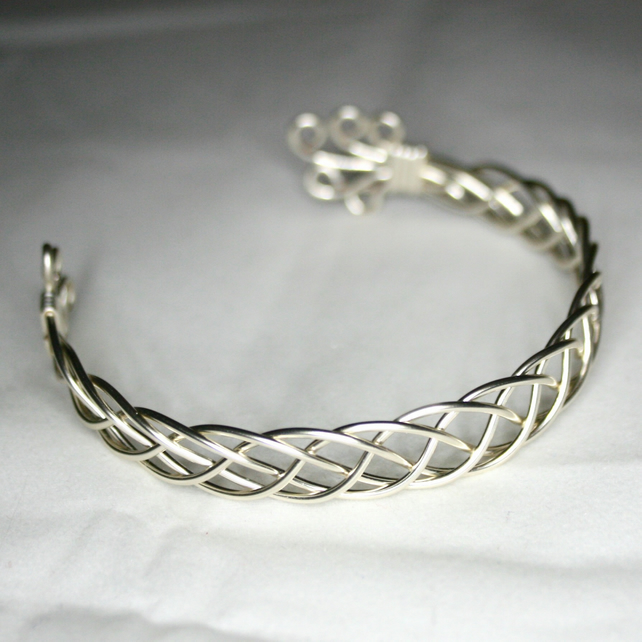 Karen - A Celtic Bracelet, Celtic Jewelry, Wire Wrapped Bracelet