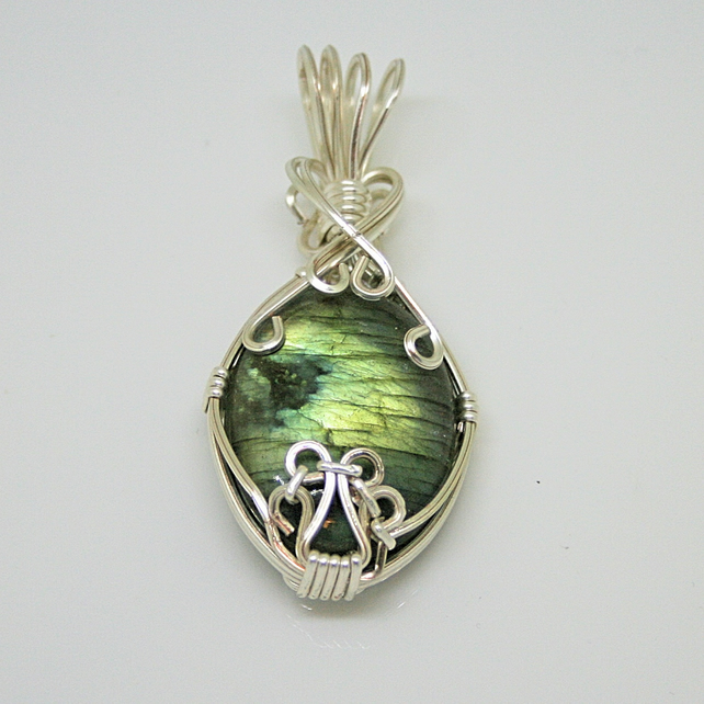 Katie - A Labradorite Pendant, Wire Wrapped Pendant, Wire Wrapped Jewellery