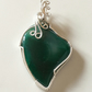 Christine - Green Heart Agate Pendant, Wire Wrapped Pendant,