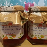 Red and Green Gooseberry Jam