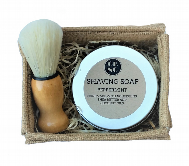 GK Natural Creations Peppermint Shaving Set