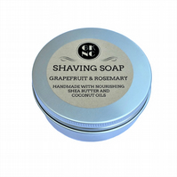 GK Natural Creations Grapefruit and Rosemary Shaving Soap with Shea Butter