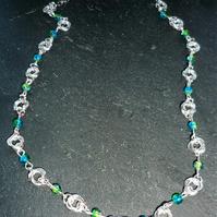 Mobious flower chainmaille necklace