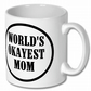 Coffee Mug,Worlds Okayest  Mom Mug,Birthday Gift
