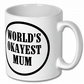 Coffee Mug,Worlds Okayest  Mum Mug,Birthday Gift