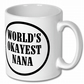 Coffee Mug,Worlds Okayest  Nana Mug,Birthday Gift