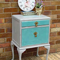 Now Sold - Renovated Queen Anne style vintage cabinet, bedside table