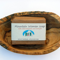 Mountain Woman Soap, shea butter, lavender, wild marjoram, cold process, natural